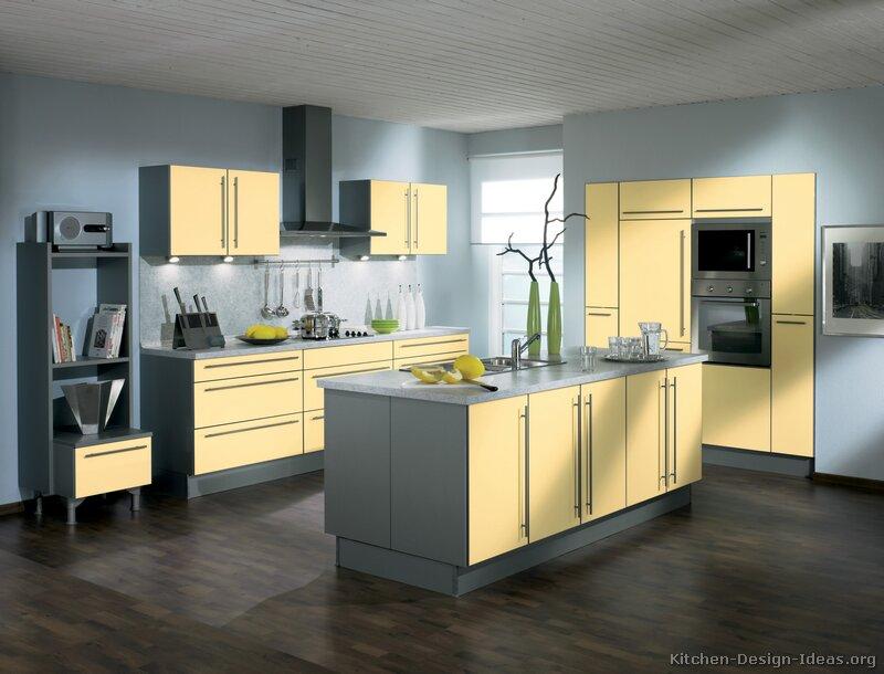 Modern Yellow And Grey Kitchen Photo   3