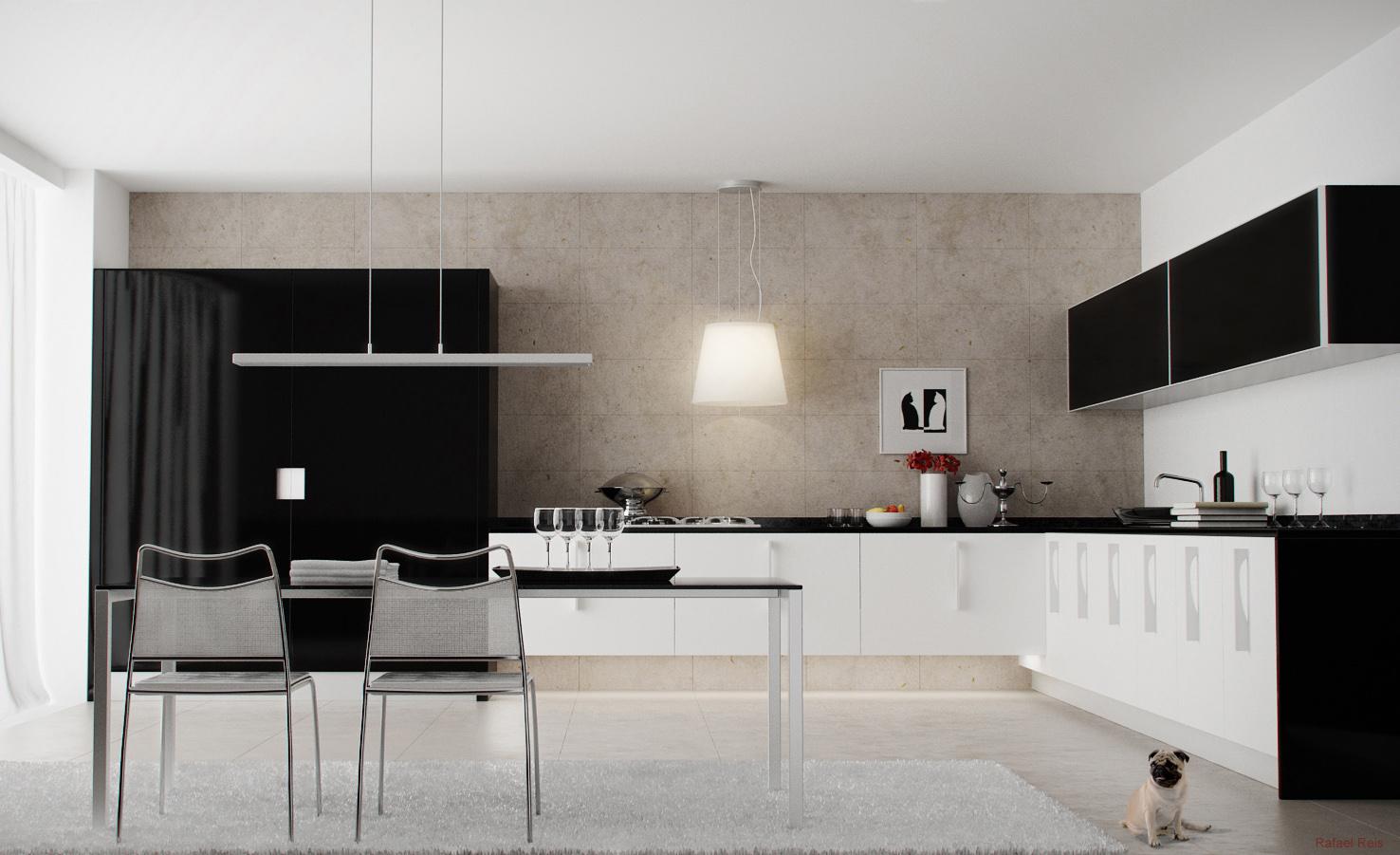 Monochrome Modern Kitchen photo - 3