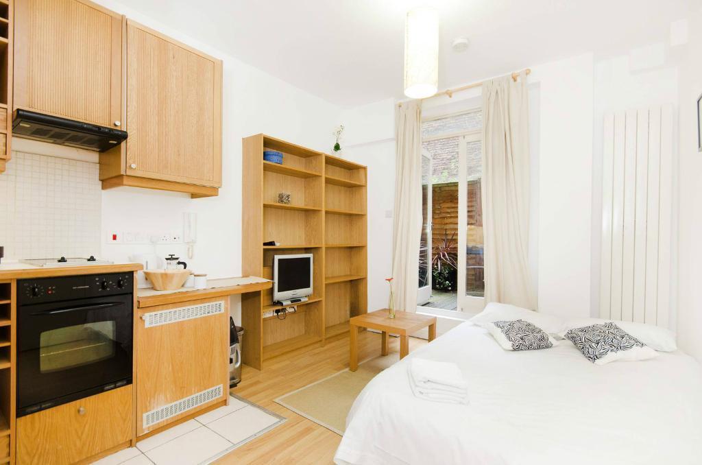 Open-plan kitchen in studio flat photo - 1