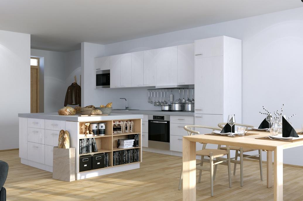 Open-plan kitchen in studio flat photo - 2