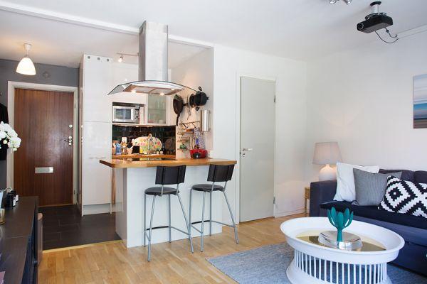 Open-plan kitchen in studio flat photo - 6