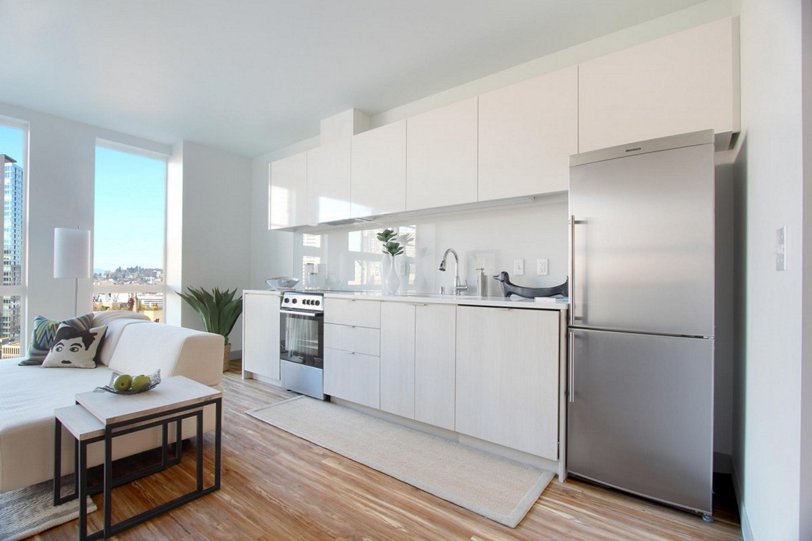Open-plan kitchen in studio flat photo - 7