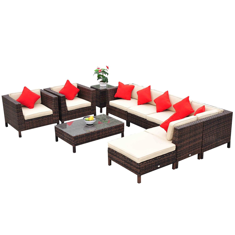 Patio Rattan Chair Set photo - 9