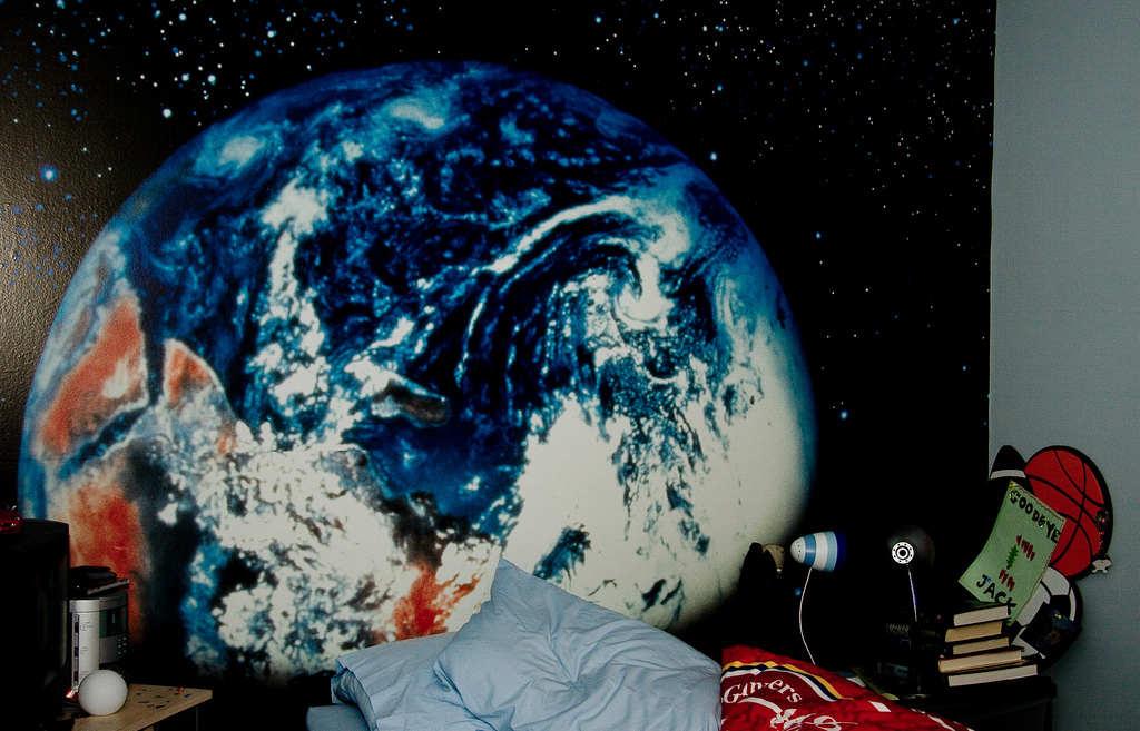 Planet Earth Bedroom Wallpaper photo - 1