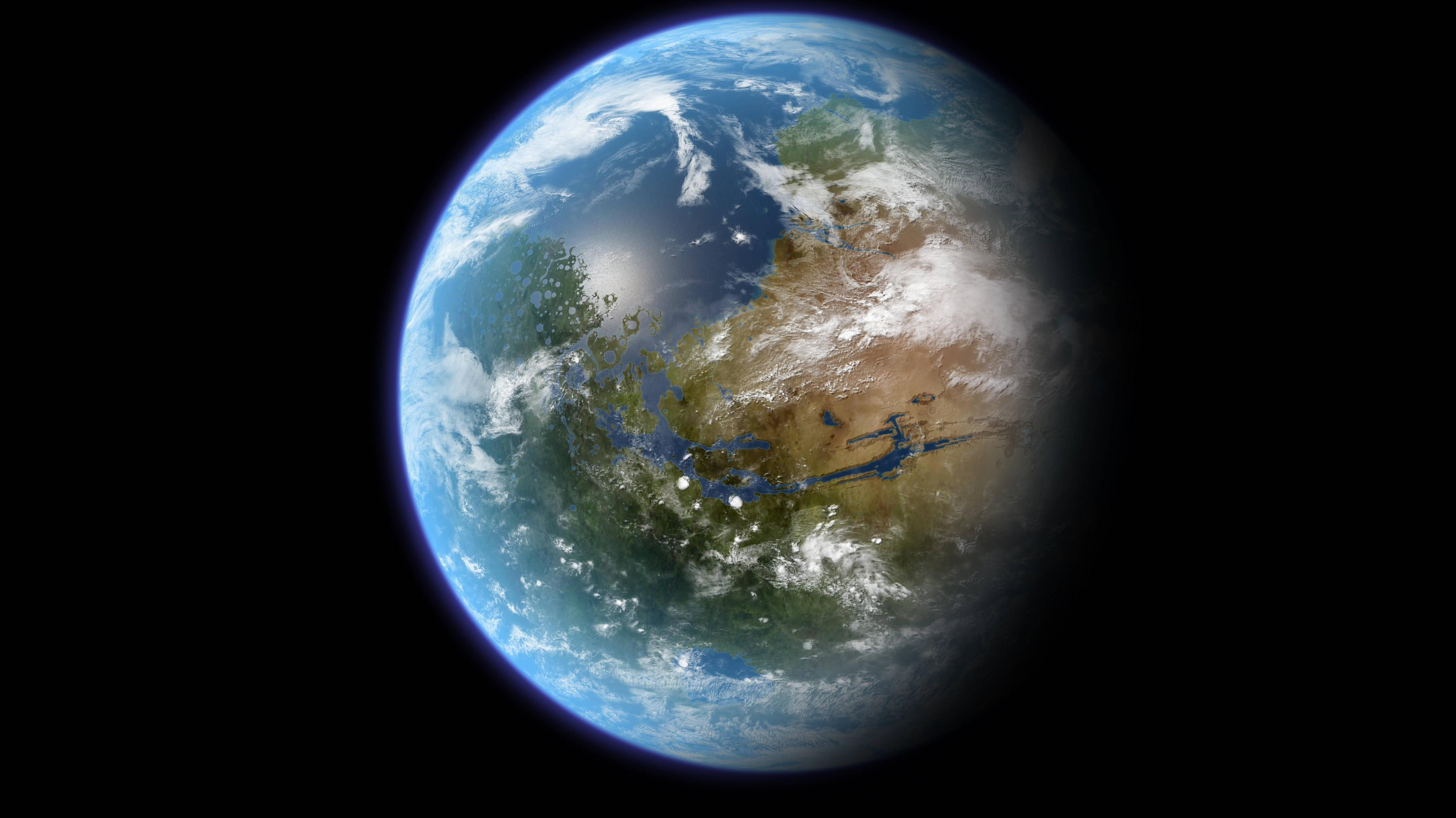 Planet Earth Bedroom Wallpaper photo - 2