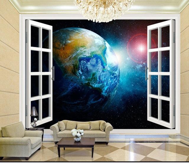 Planet Earth Bedroom Wallpaper photo - 4