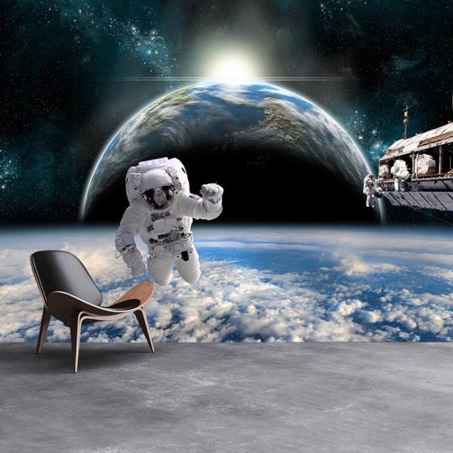 Planet Earth Bedroom Wallpaper photo - 7