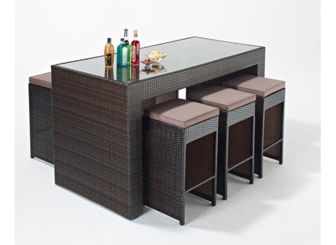 Rattan Bar Table photo - 8