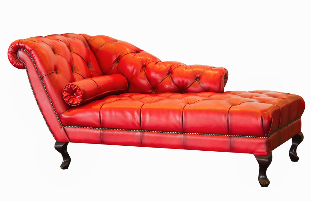 Red Chaise Lounge photo - 2