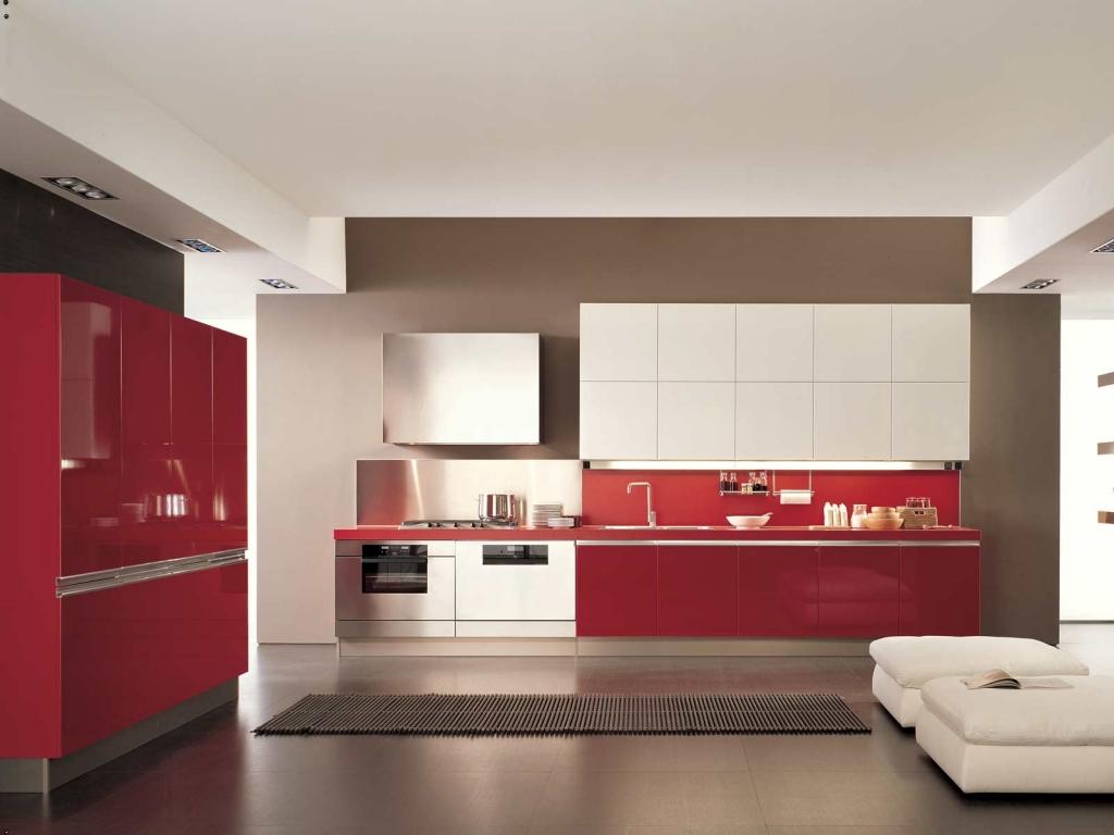 Red Kitchen Interior photo - 1