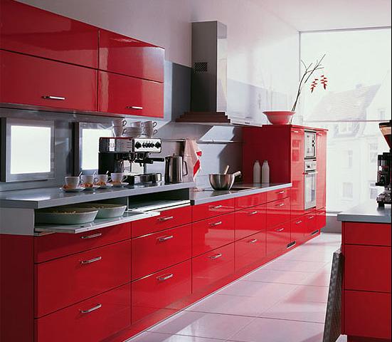 Red Kitchen Interior photo - 2