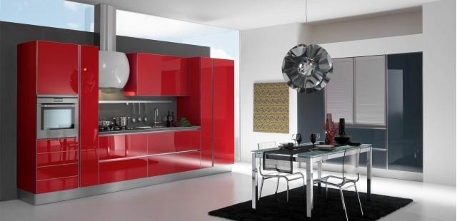 Red Kitchen Interior photo - 3