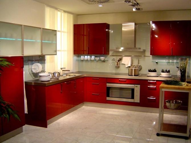 Red Kitchen Interior photo - 4