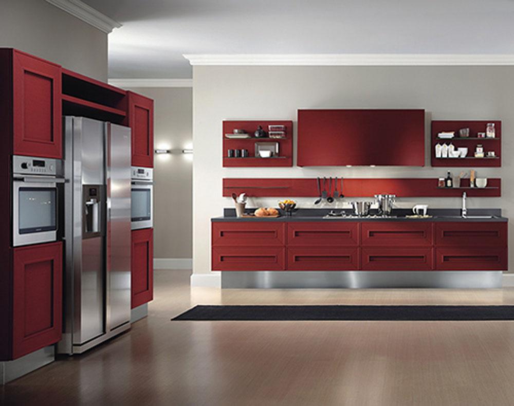 Red Kitchen Interior photo - 5