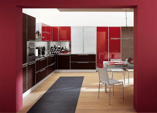 Red Kitchen Interior photo - 6