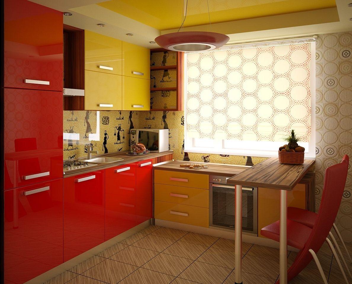 Red Kitchen Interior photo - 7
