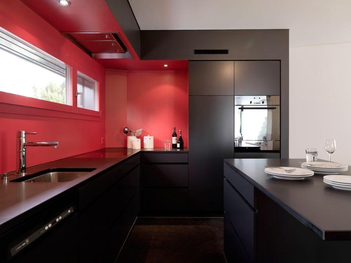 Red Kitchen Interior photo - 9