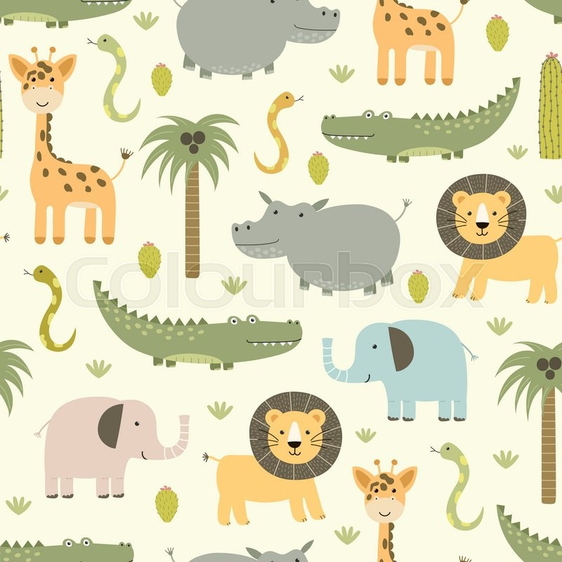 Safari Pattern Wallpaper photo - 4