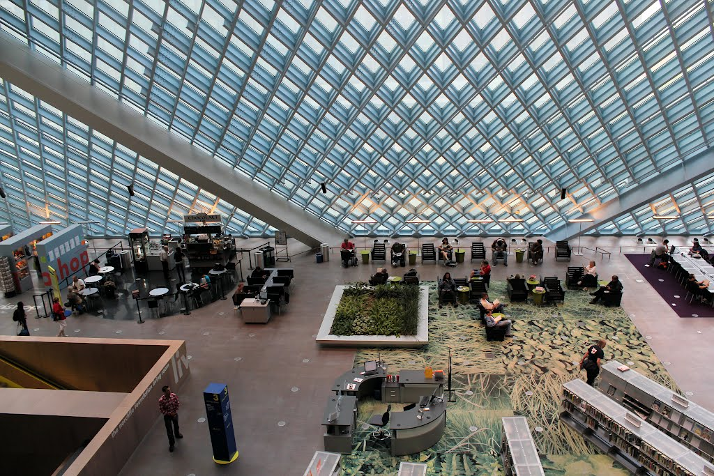 Seattle Public Library Interior Hawk Haven