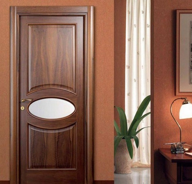Solid Wood Single Door Design Photo
