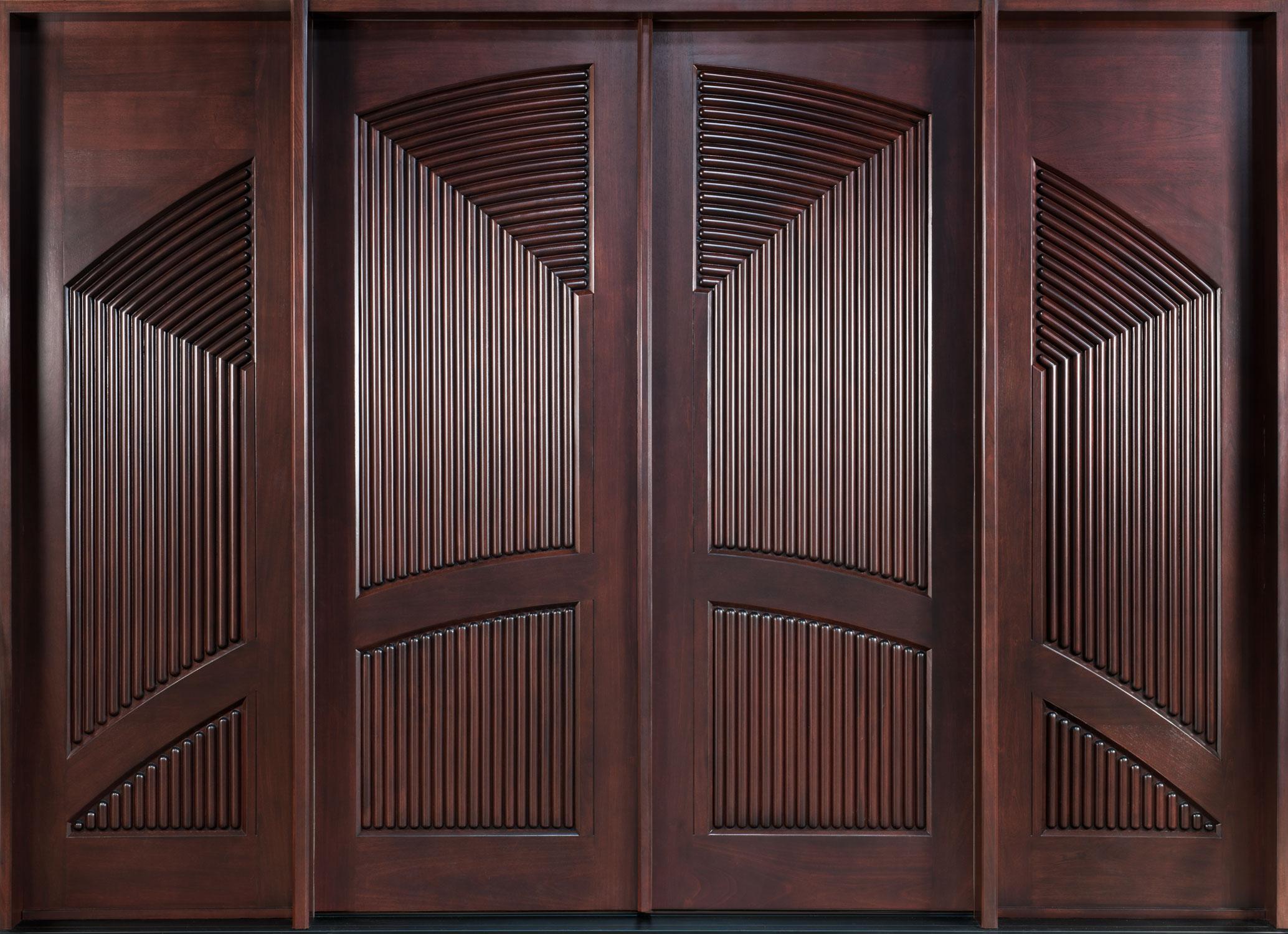Solid Wood Single Door Design Photo   4