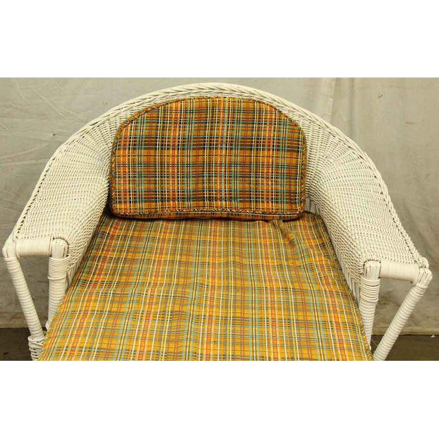 Vintage 1940s Wicker Chaise photo - 6