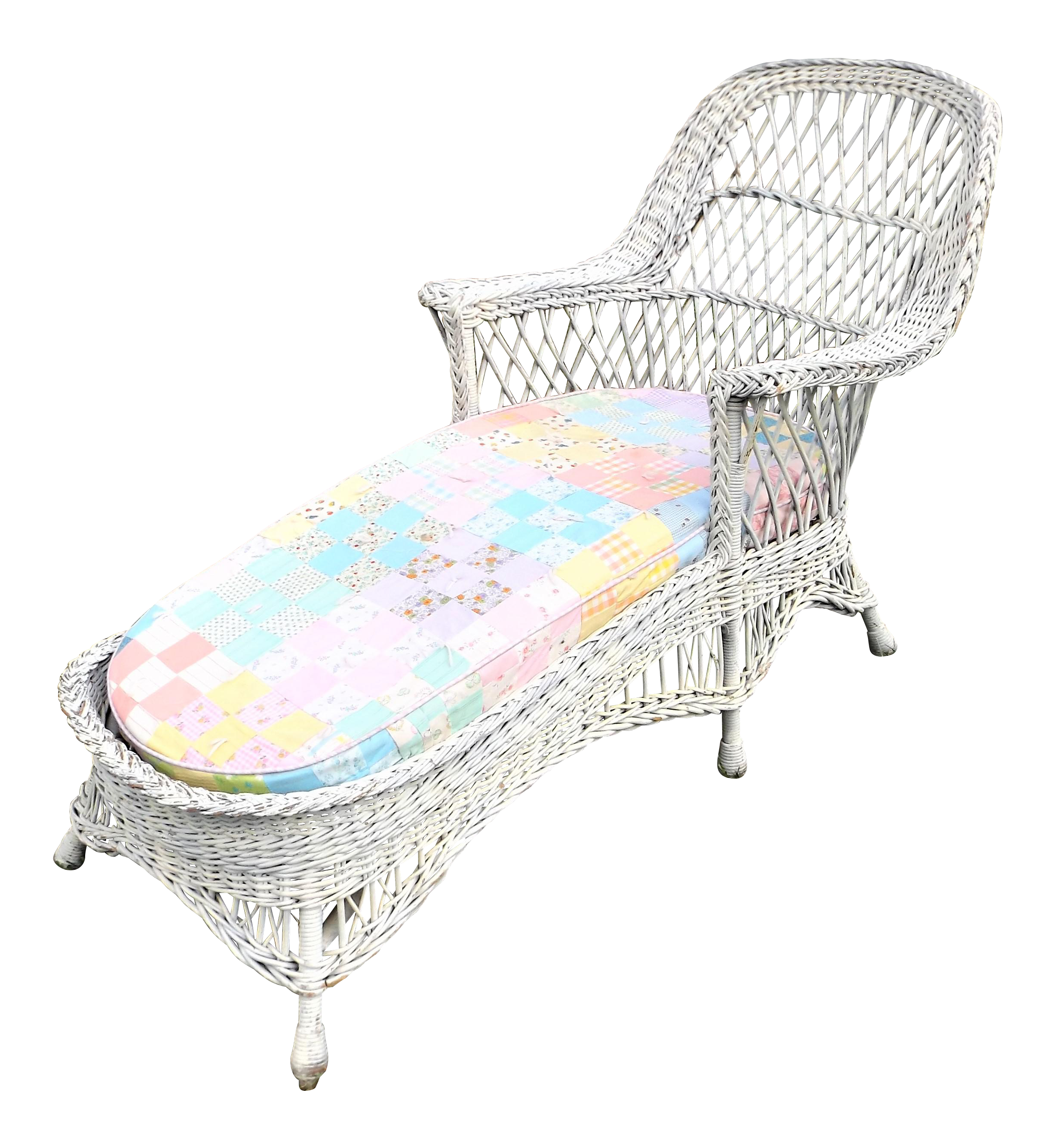 Vintage 1940s Wicker Chaise photo - 7