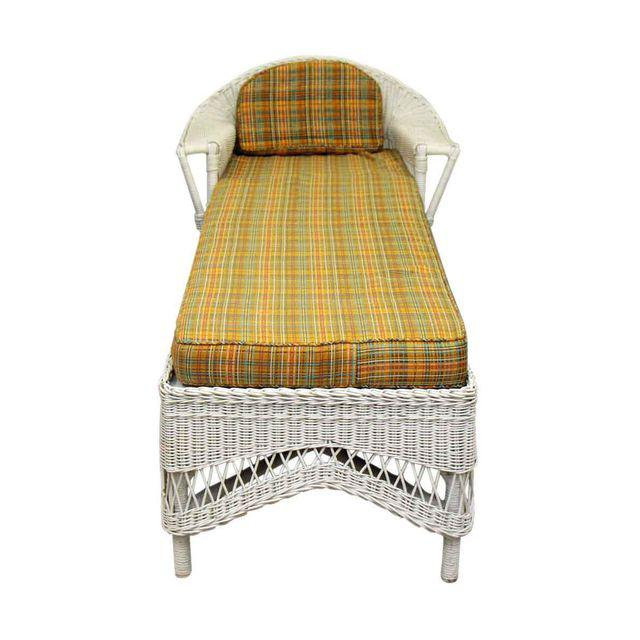 Vintage 1940s Wicker Chaise photo - 8