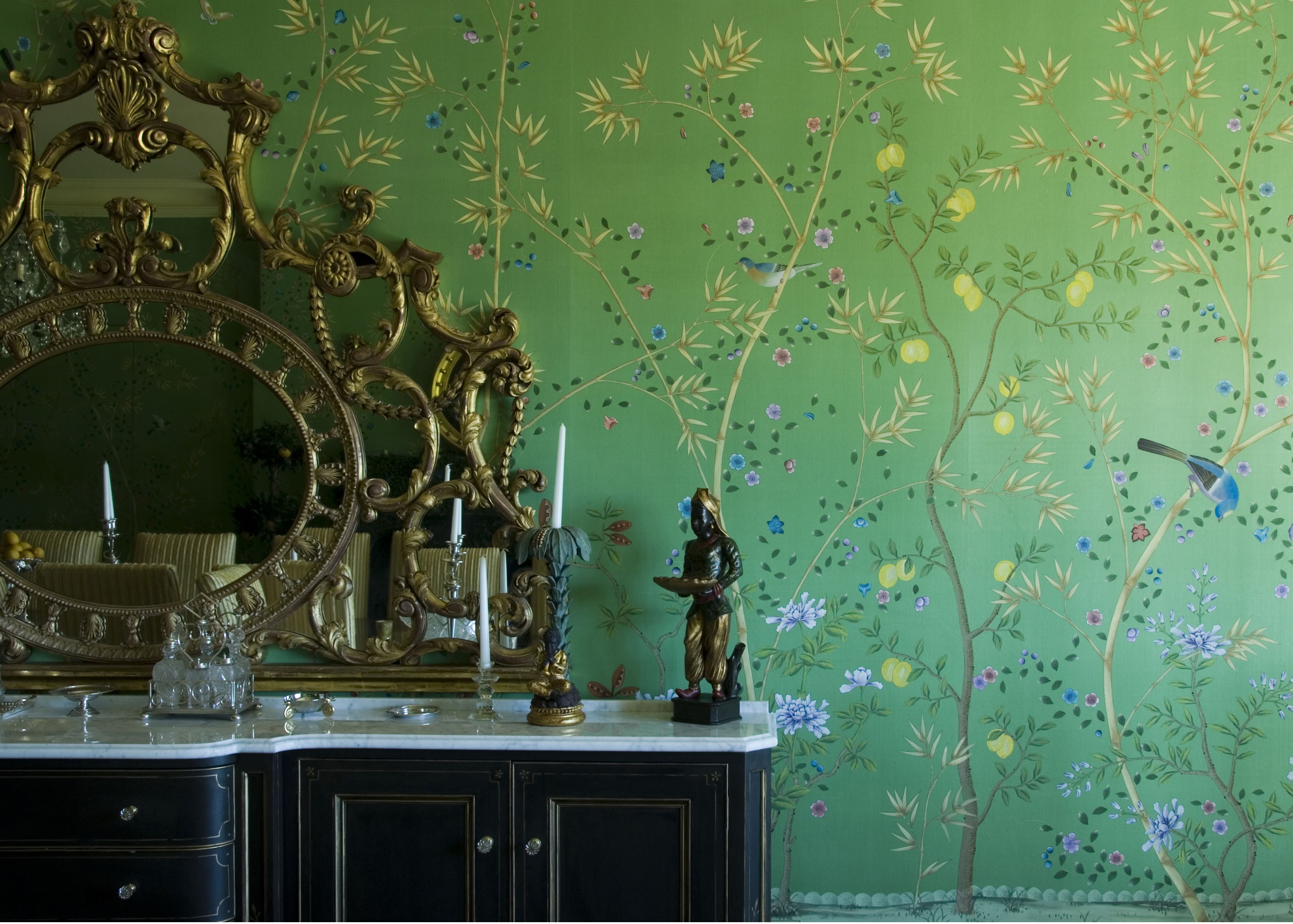 Wall with Chinese Wallpaper Design photo - 10