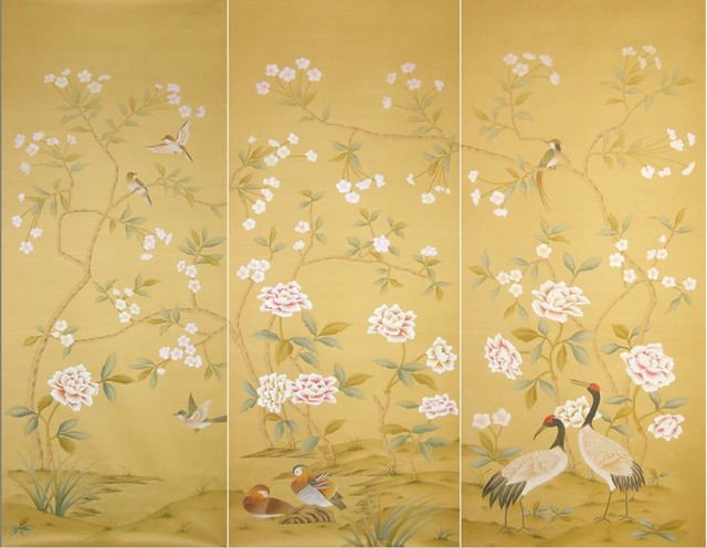 Wall with Chinese Wallpaper Design photo - 2