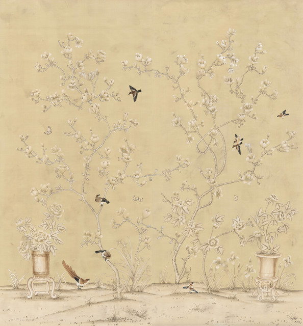Wall with Chinese Wallpaper Design photo - 3