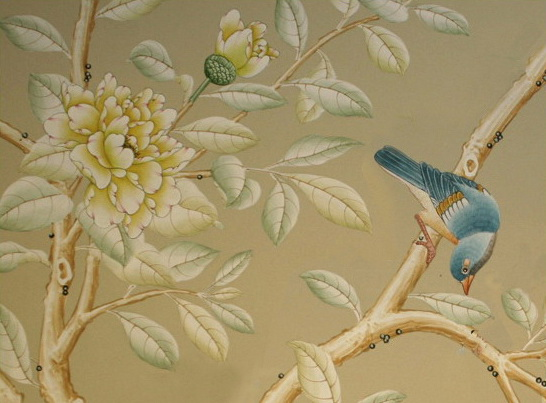 Wall with Chinese Wallpaper Design photo - 9