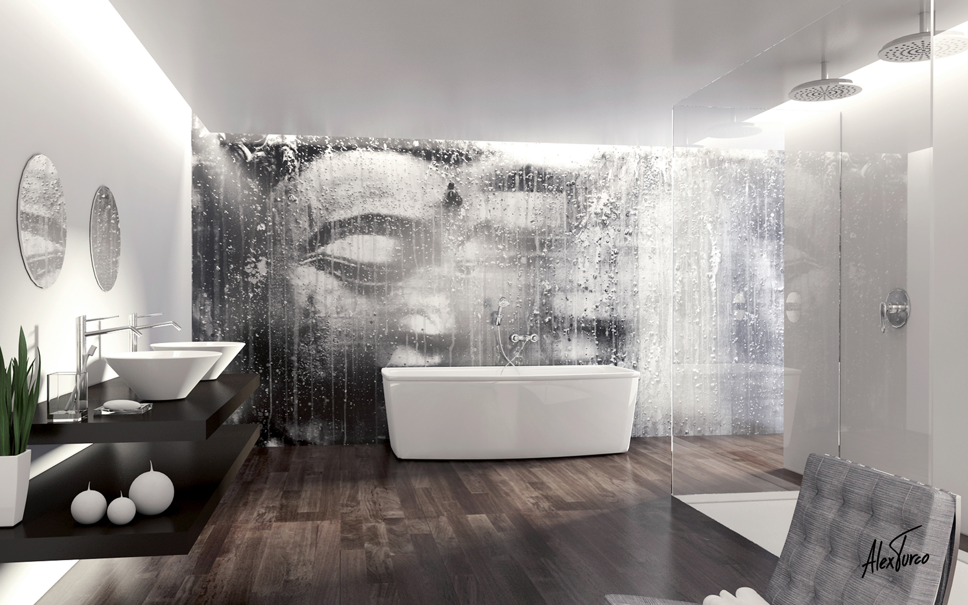 Waterproof Wallpaper for Bathrooms photo - 9