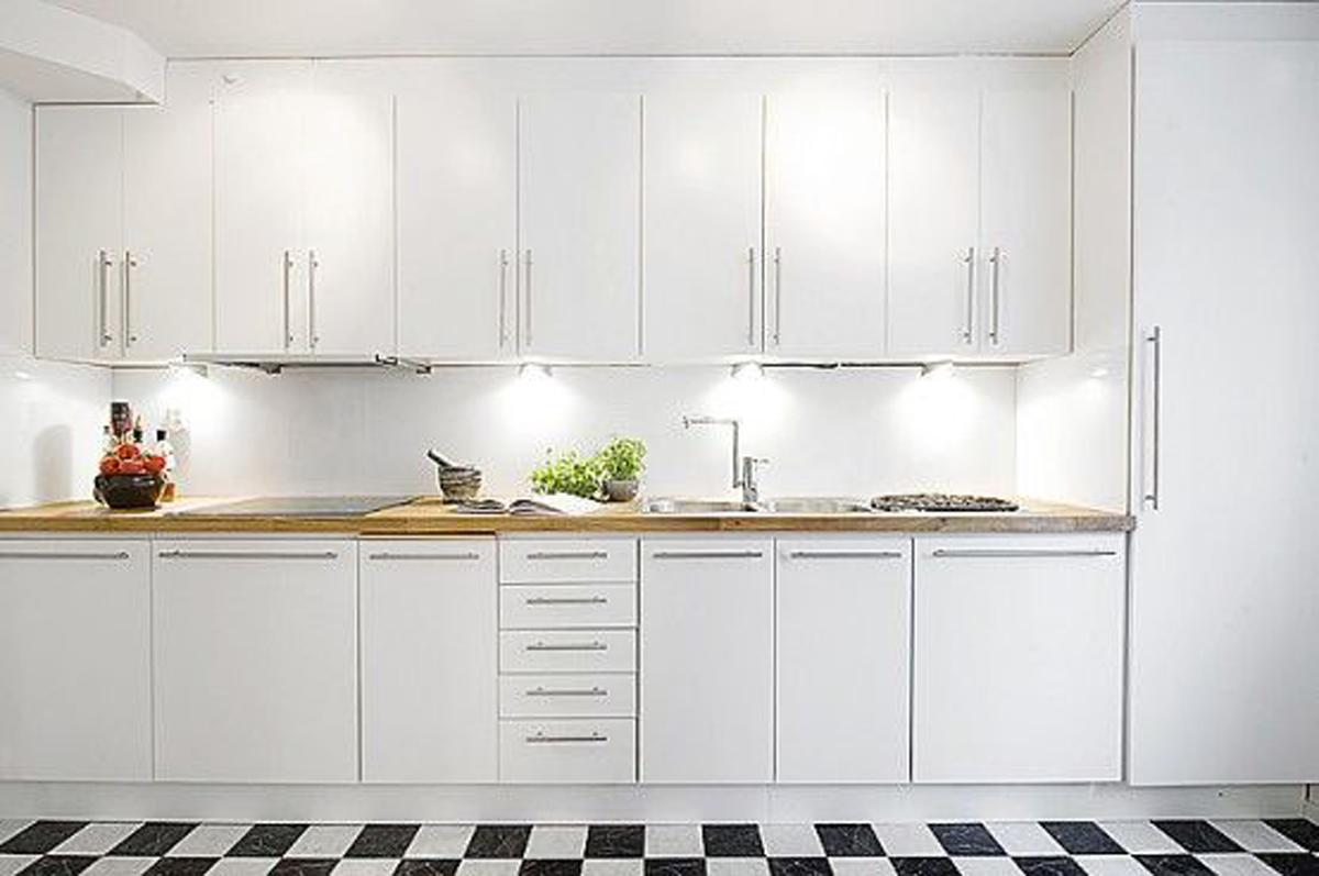 White Kitchen Interior photo - 2