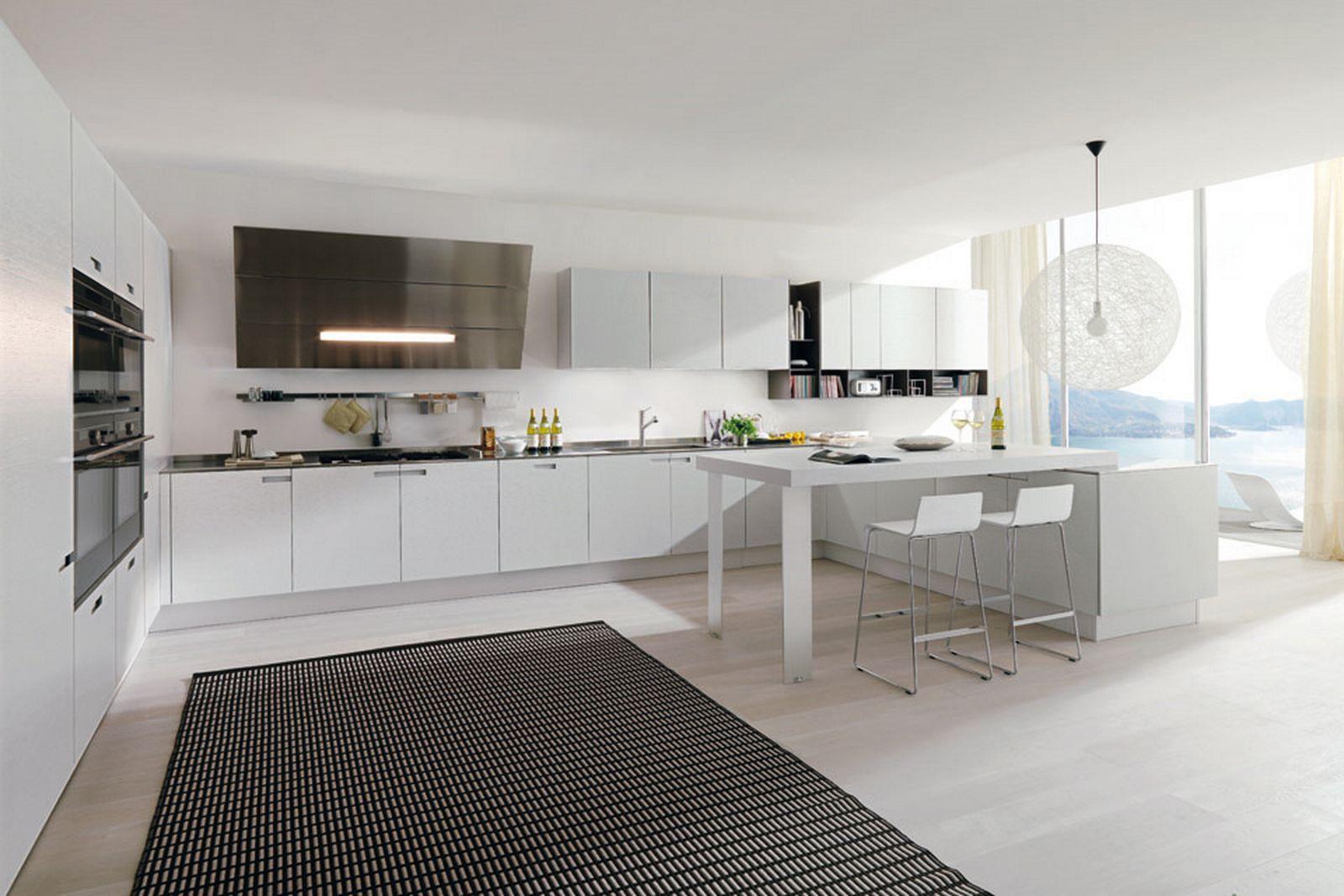 White Kitchen Interior photo - 5
