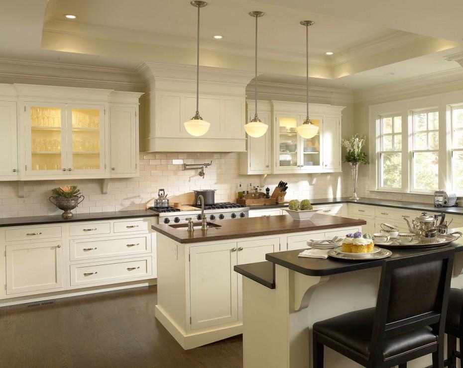White Kitchen Interior photo - 7