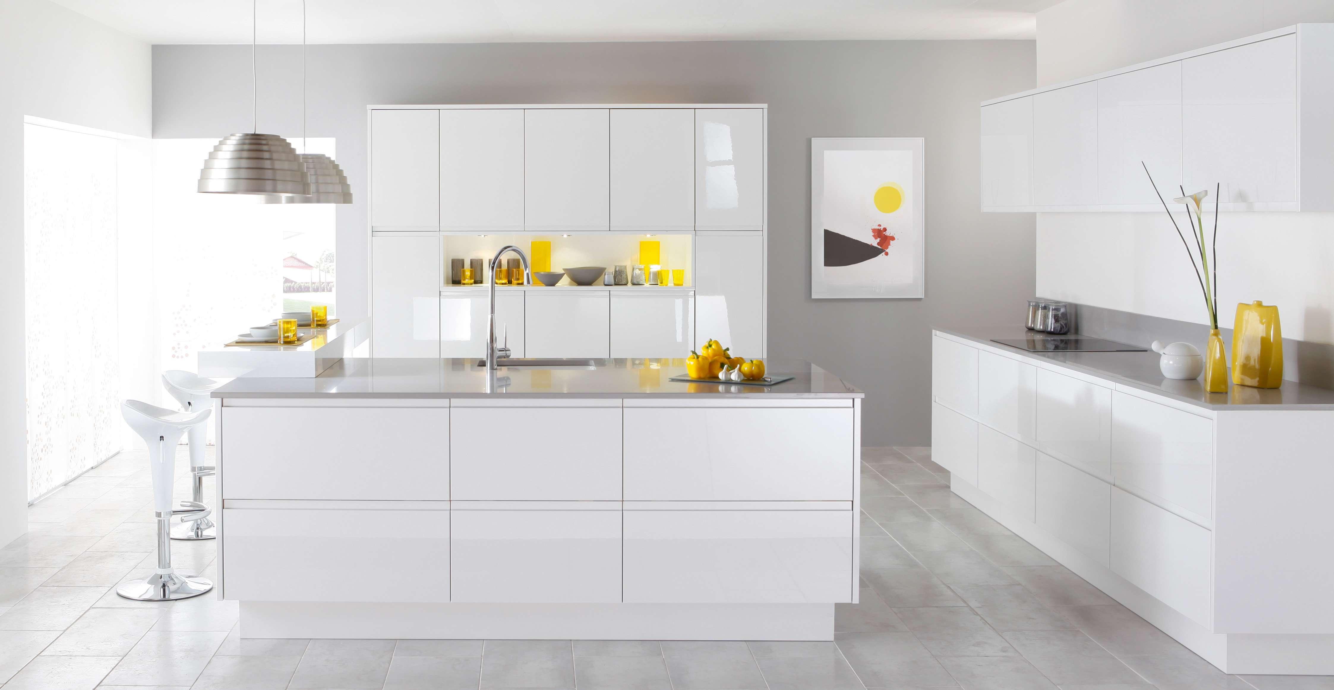 White Modern Kitchen photo - 2