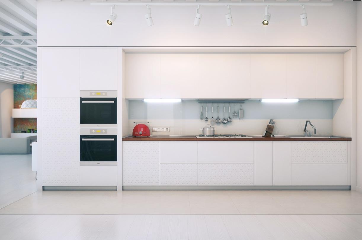 White Modern Kitchen photo - 5