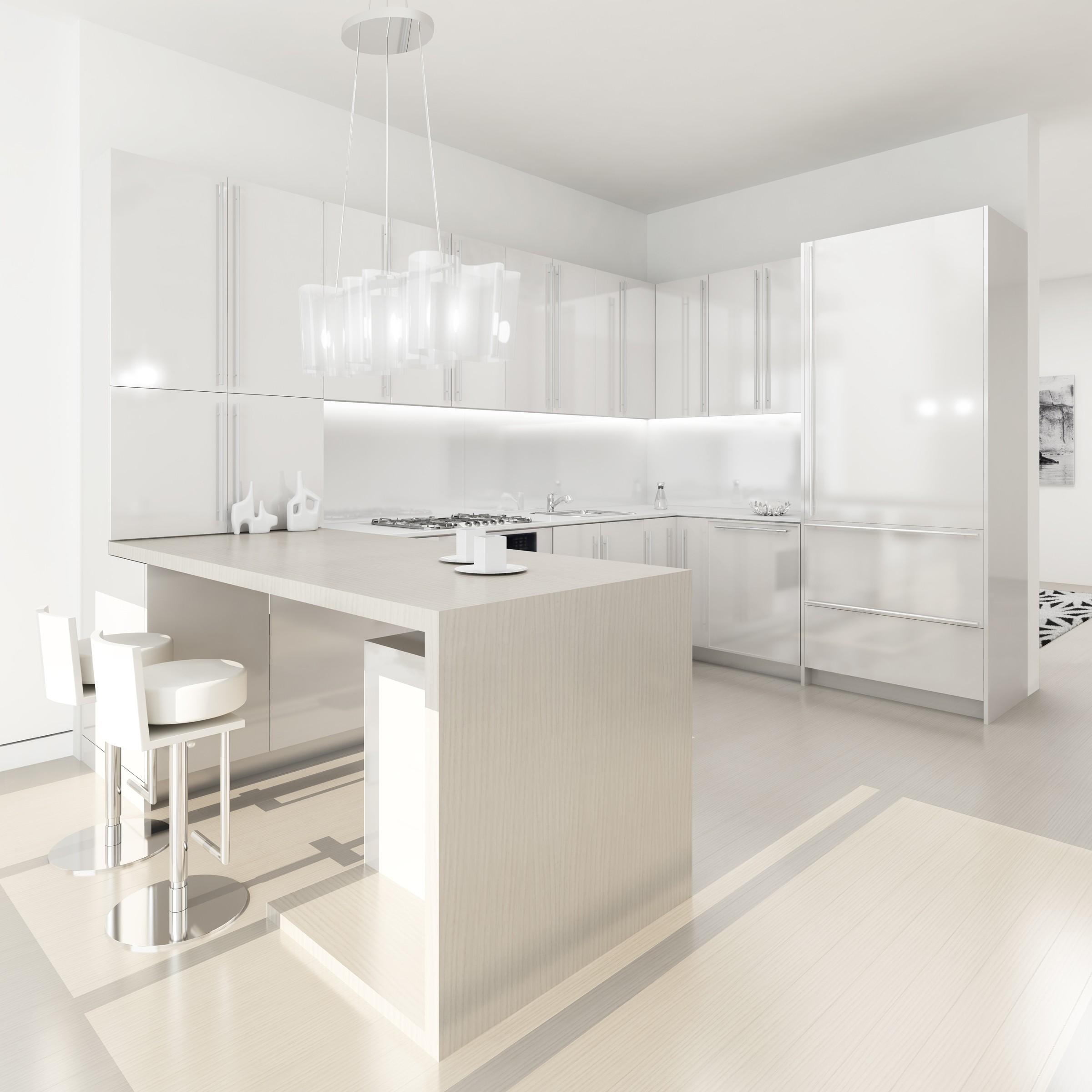 White Modern Kitchen photo - 7