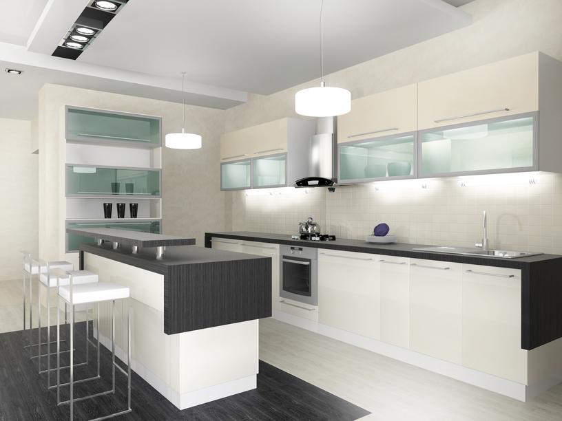 White Modern Kitchen photo - 8
