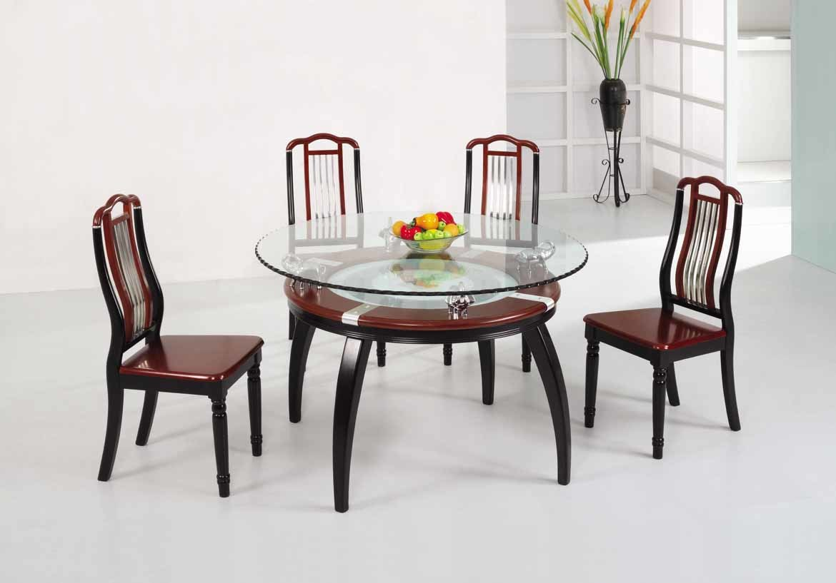 Wooden Dining Table Set photo - 1