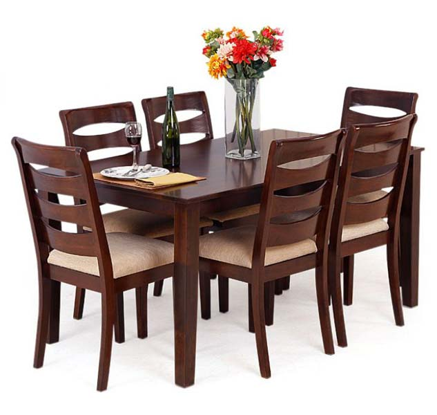 Wooden Dining Table Set photo - 5