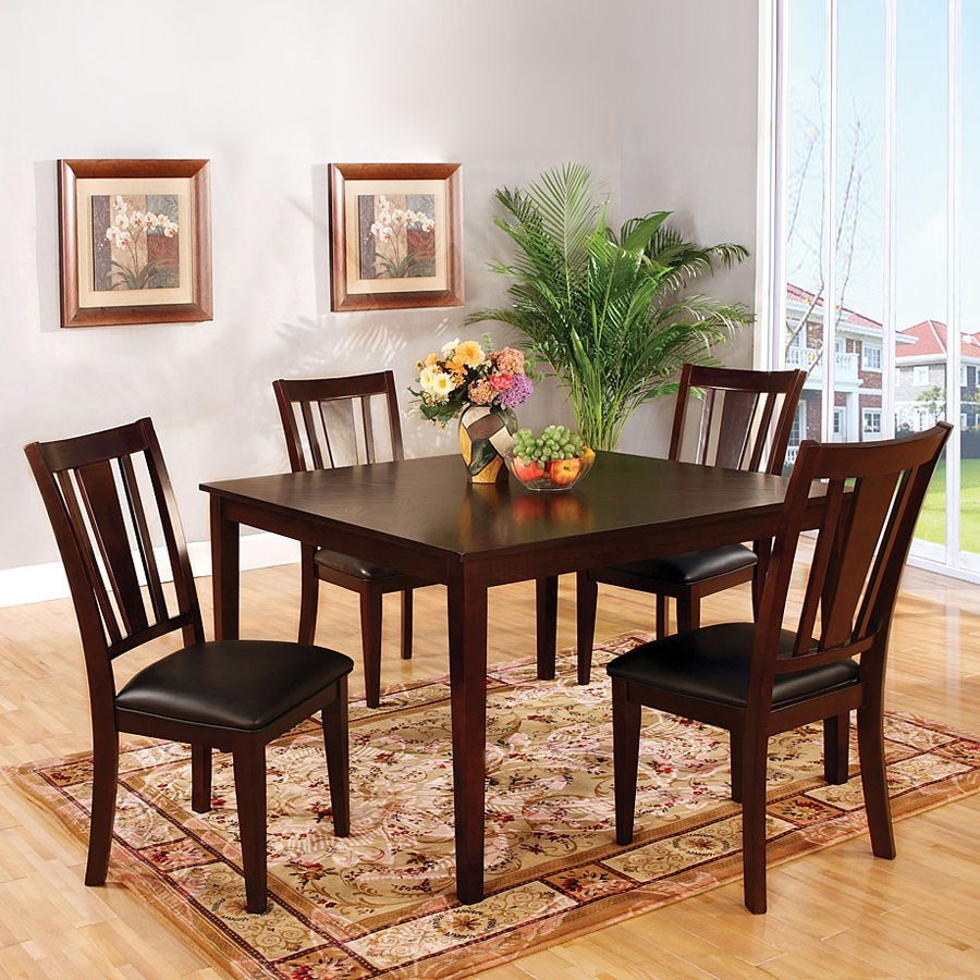 Wooden Dining Table Set photo - 6
