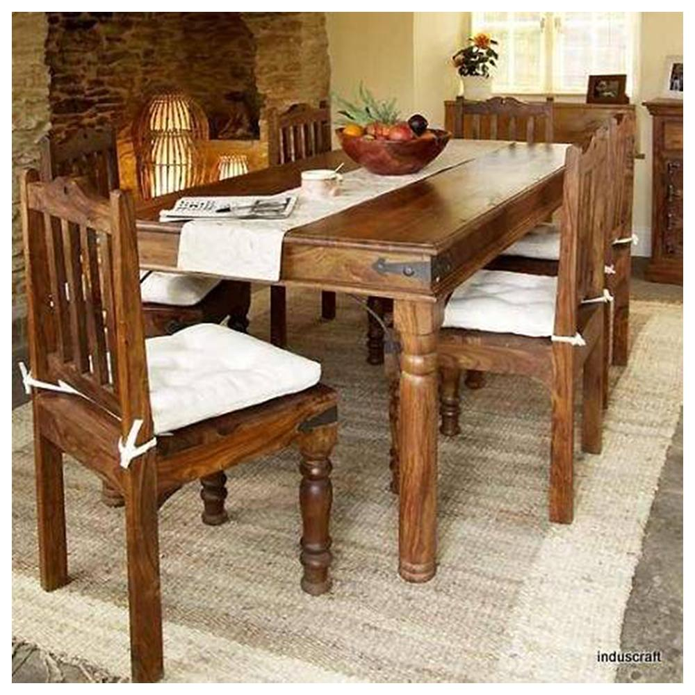 Wooden Dining Table Set photo - 7