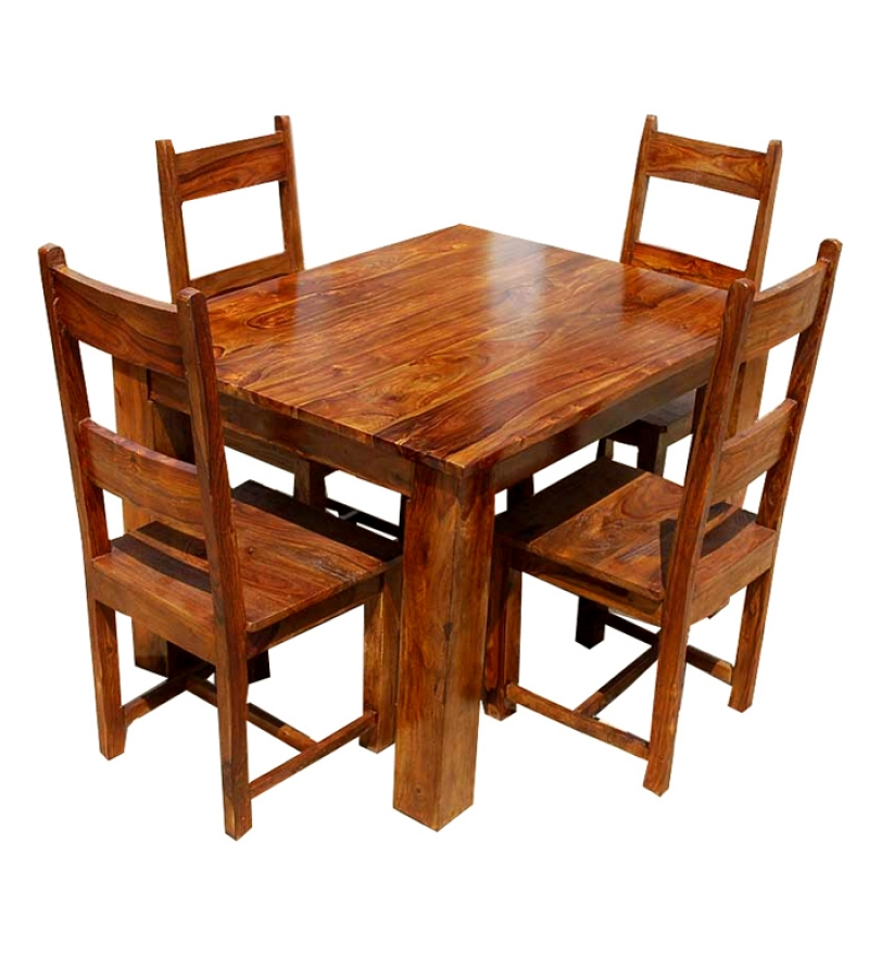 Wooden Dining Table Set photo - 8