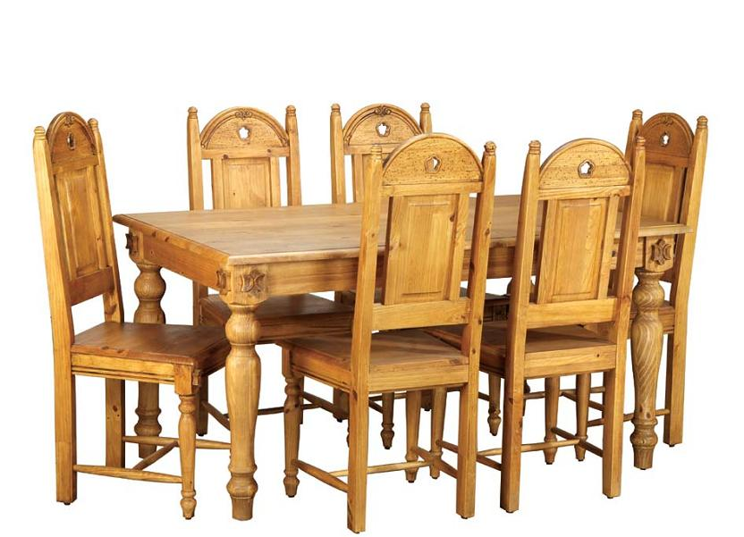 Wooden Dining Table Set photo - 9