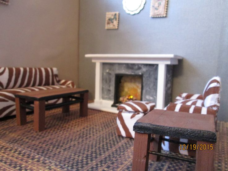 Zebra Chairs And Ottoman Center Table Photo   4