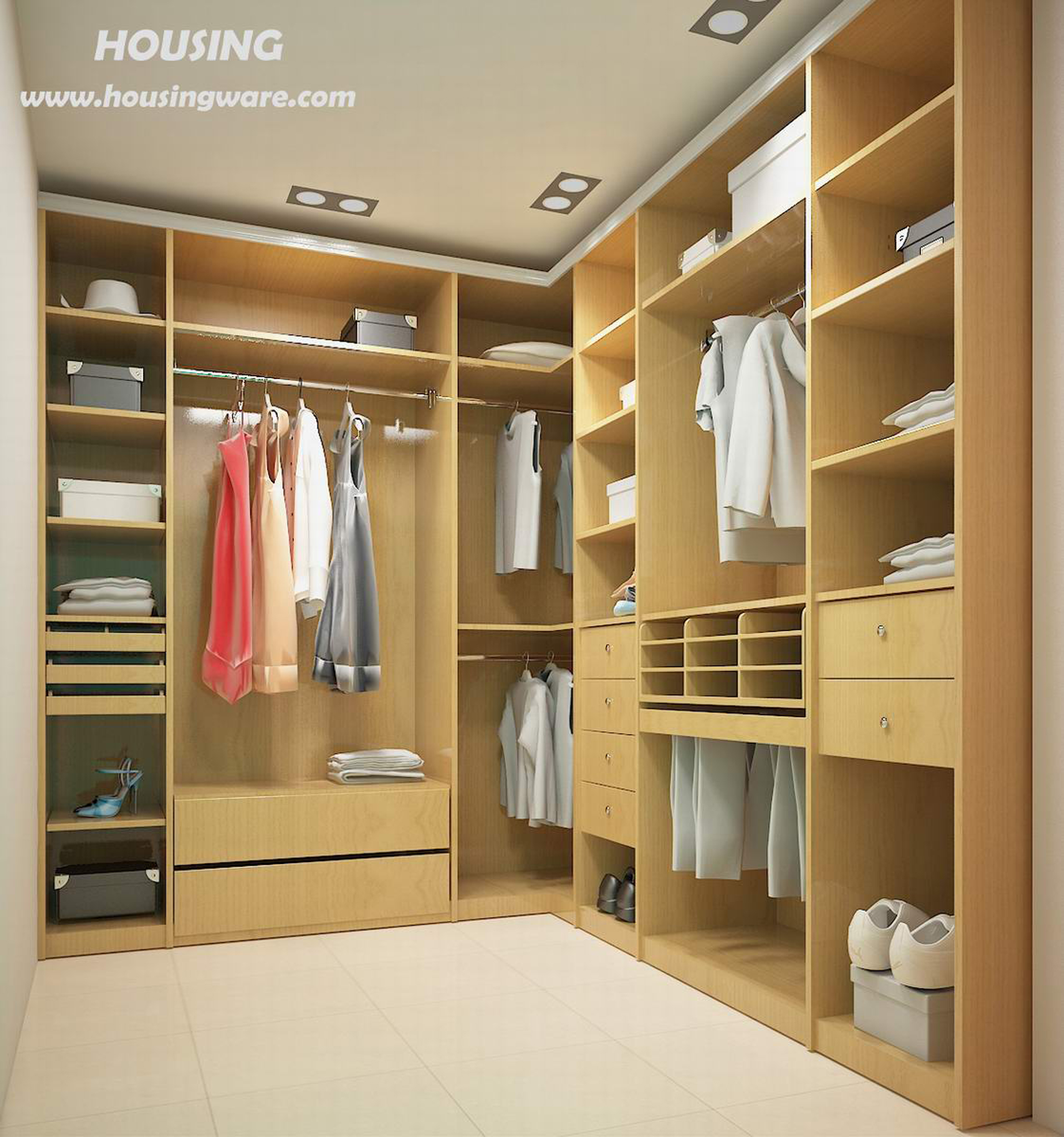 affordable walk in closet design photo - 8