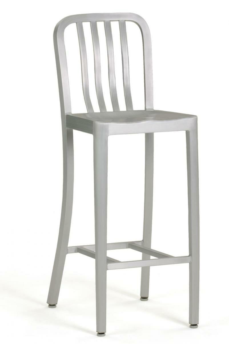 aluminum bar stool chairs photo - 7