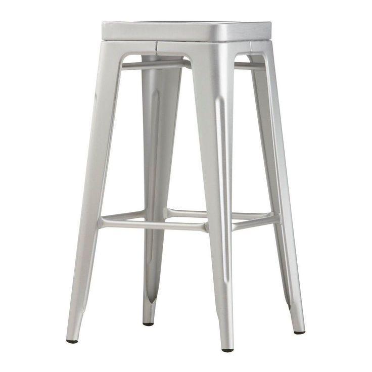 aluminum bar stool chairs photo - 9